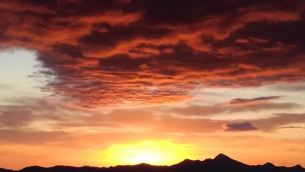 12月18日 早朝のバラギ高原
